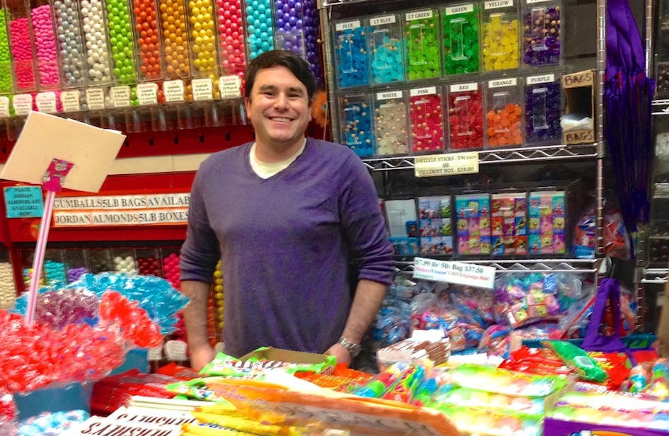 Mitchell Cohen at Economy Candy in New York's Lower East Side. (Debra Nussbaum Cohen)