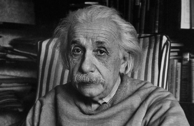 Albert Einstein, pictured here at his home in Princeton, N.J., in 1949. (Alfred Eisenstaedt via CC)