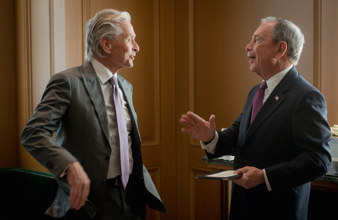 Michael Douglas and Michael Bloomberg each spoke at the announcement of the Genesis Generation Challenge winners on Tuesday. (Flickr)