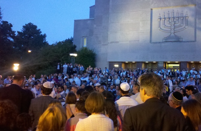 Adas Israel, Washington's largest Conservative synagogue, launched a popular outdoor instrumental Kol Nidrei service on Yom Kippur eve. (David Polonsky)