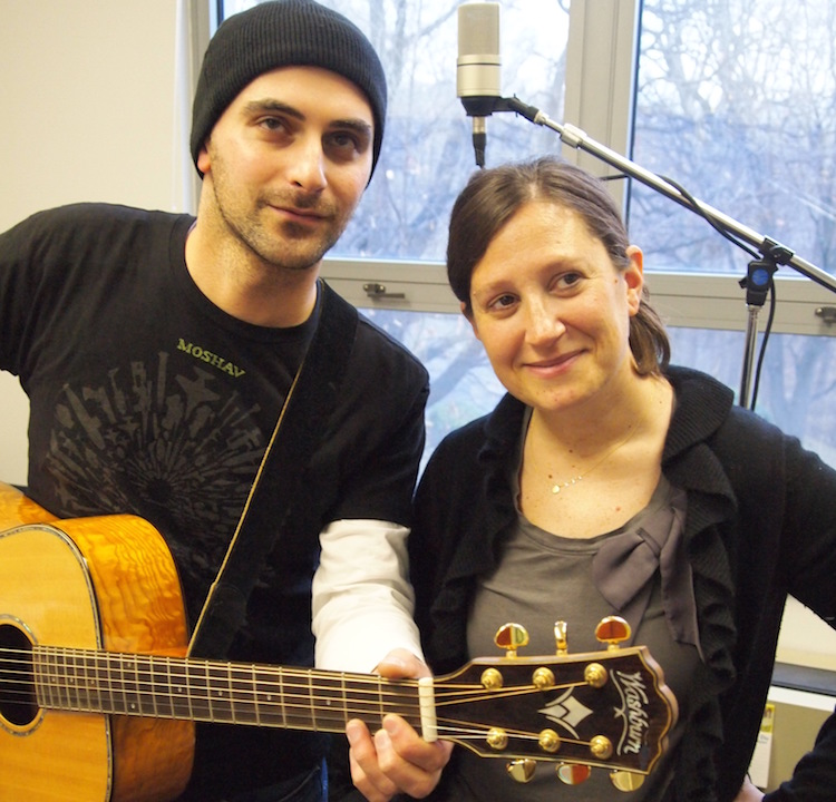 Elie Greenberg and Rabbi Lauren Holtzblatt co-created the popular instrumental Shabbat evening service at Adas Israel Congregation in Washington. (David Polonsky)