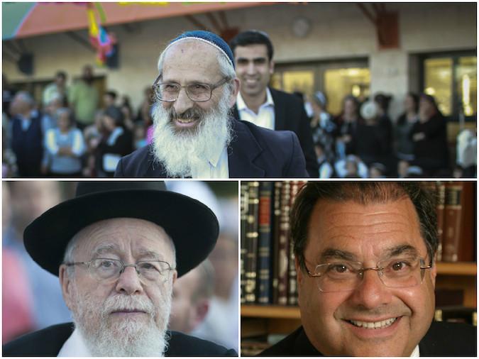 Rabbi Shlomo Aviner, top, Rabbi Dov Lior, bottom left, and Rabbi Shlomo Riskin have all compared President Obama to the biblical villain Haman.