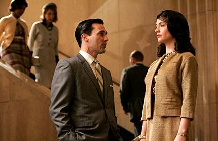 Jon Hamm as Don Draper and Maggie Siff as Rachel Menken. (Doug Hyun/AMC)