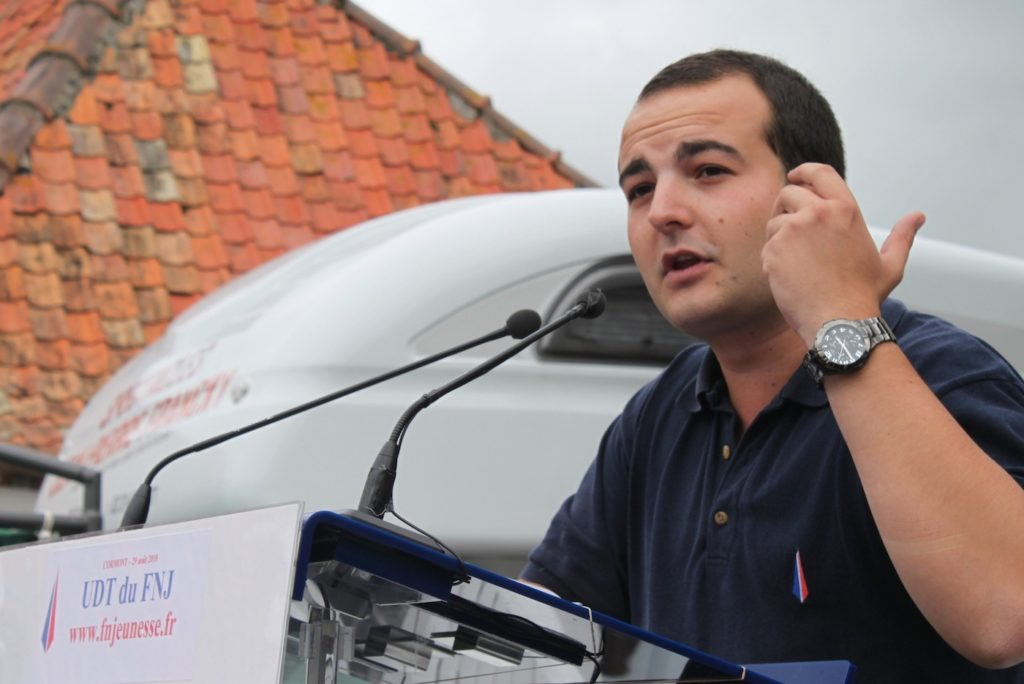 David Rachline speaking at a National Front convention in Cormont, France, in 2010. (G. Bouchet/National Front)