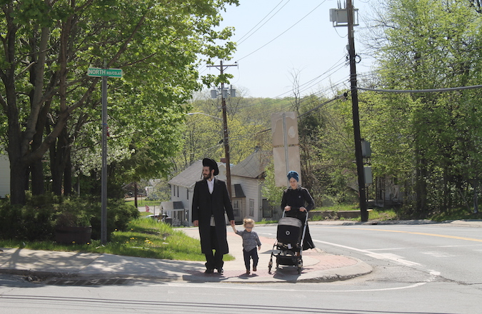 Chaim Friedman moved with his wife and two children to Bloomingburg from Williamsburg, Brooklyn. (Uriel Heilman)