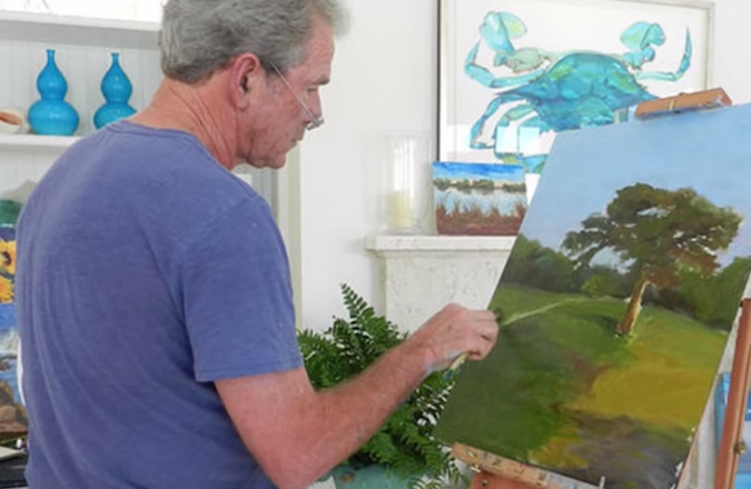 George w bush made a painting for sheldon adelson for George bush painting