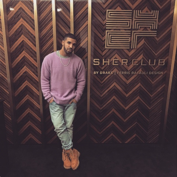 Rapper Drake in front of his new club. (Instagram)