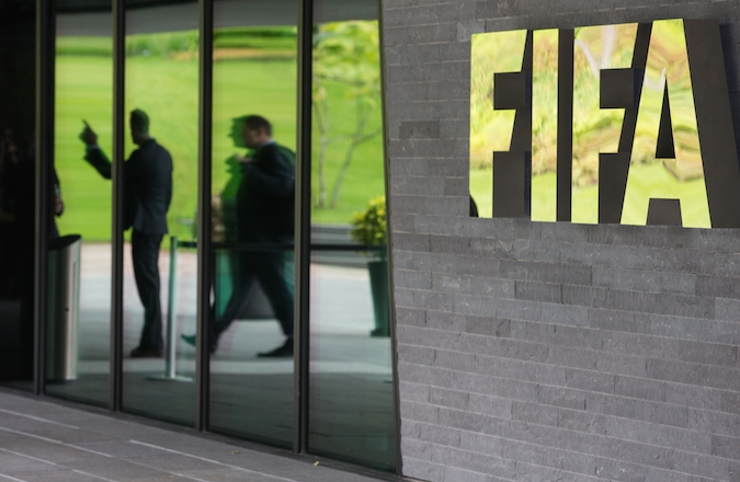 The FIFA headquarters in Zurich, Switzerland after Swiss police on Wednesday raided a Zurich hotel to detain top FIFA football officials as part of a US investigation into corruption. (Philipp Schmidli/Getty Images)