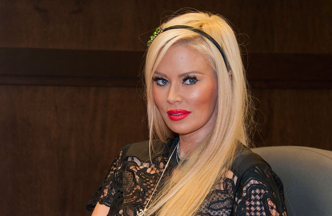 "Former adult actress Jenna Jameson promoting her erotic novel ""Sugar"" on October 25, 2013 at a Barnes and Noble in Los Angeles, California. (Valerie Macon/Getty Images)"
