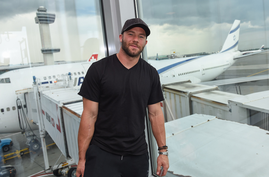 Julian Edelman will fly on El Al's new service from Tel Aviv to Boston's Logan International Airport. (Shahar Azran)