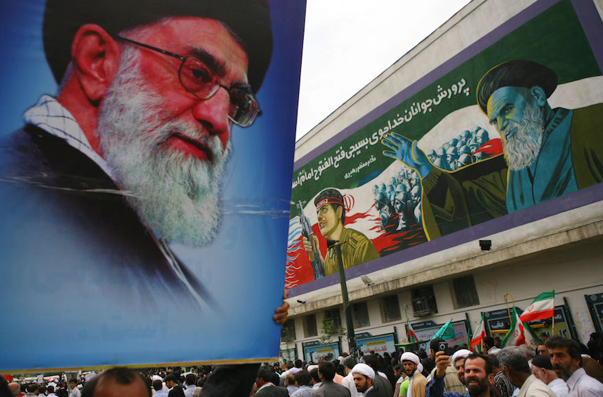 Khameini and AIPAC are seen as must-convince skeptics for their respective sides in the talks about Iran's nuclear program.  (Majid Saeedi/Getty Images)