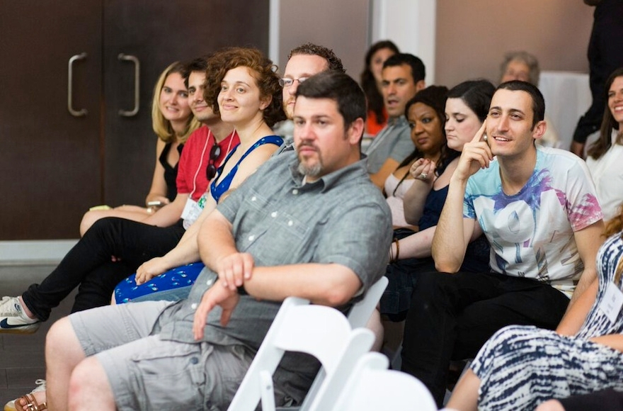 A recent Rebar storytelling event in Brooklyn. (Emmanuel Abreu)