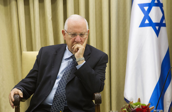 Israeli president Reuven Rivlin at the president's house in Jerusalem on May 28, 2015. (Miriam Alster/Flash90)