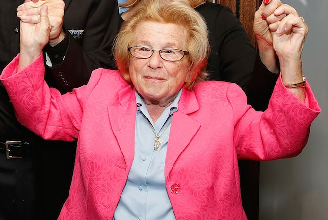 "Dr. Ruth Westheimer attends the opening night of  ""Wiesenthal: A New Play,"" Nov. 5, 2014 in New York City. (Cindy Ord/Getty Images for Wiesenthal)"