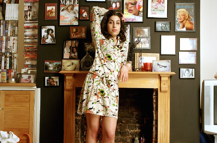 Amy Winehouse at her home in Camden, London in 2004. (Mark Okoh/Contemporary Jewish Museum)