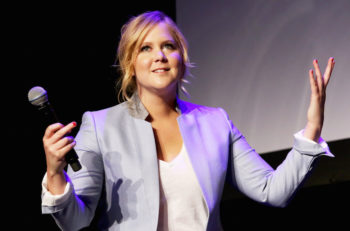 "Amy Schumer speaking about her film ""Trainwreck"" at the 2015 Tribeca Film Festival on April 19, 2015, in New York. (Robin Marchant/Getty Images)"
