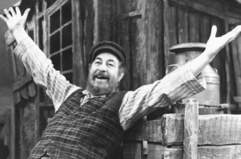 "A scene from ""Fiddler on the Roof"" at the Wimbledon Theatre, London, England, February 22, 1980. (Graham Turner/Keystone/Getty Images)"