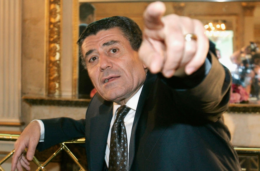 Haim Saban, at a news conference on August 5, 2005, in Munich, Germany, is an Israeli Hollywood mogul. (Jan Pitman/Getty Images)