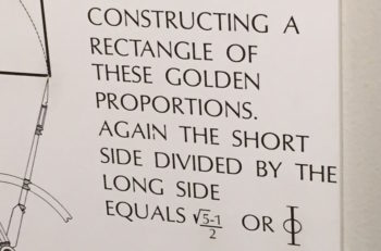 Joseph Rosenfeld noticed that at the Museum of Science in Boston, Mass., the golden rule is written with minus rather than plus signs, and snapped a photo, above, June 4, 2015. (Scott Rosenfeld)