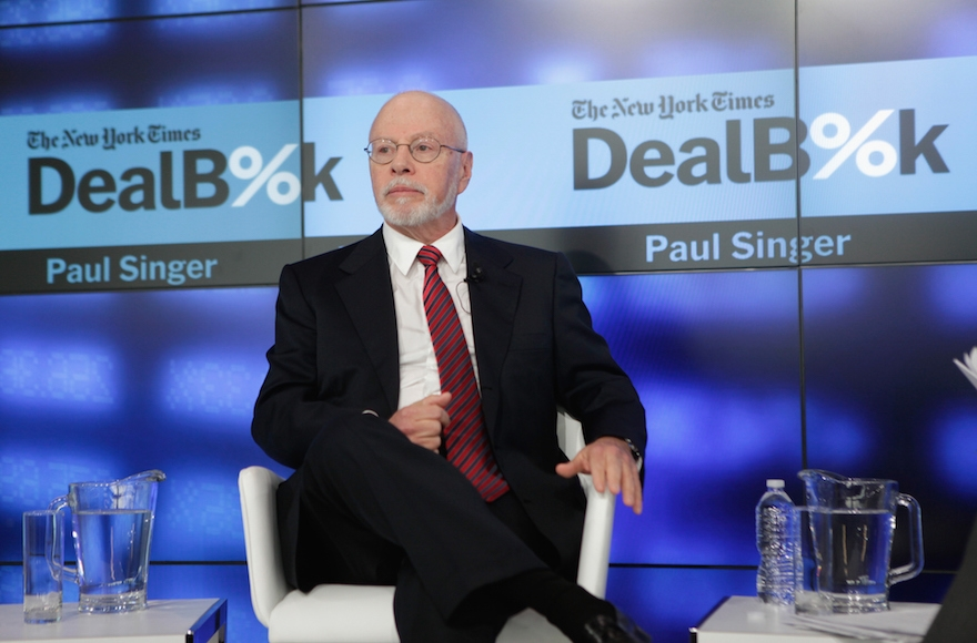 Paul Singer, above in New York on Dec. 11, 2014, heads hedge fund Elliot Management, which is lobbying against a merger of Samsung C&T subsidiaries. (Thos Robinson/Getty Images)