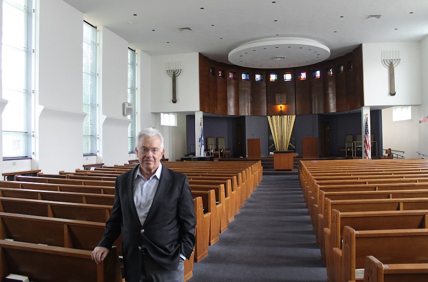 Rabbi Alan Turetz of Temple Emeth in south Brookline, Mass., is one of the Boston area's longest-serving congregational rabbis. (Uriel Heilman)