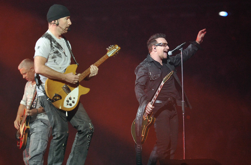 U2 performing in New Jersey on July 20, 2011. (Mike Coppola/Getty Images)