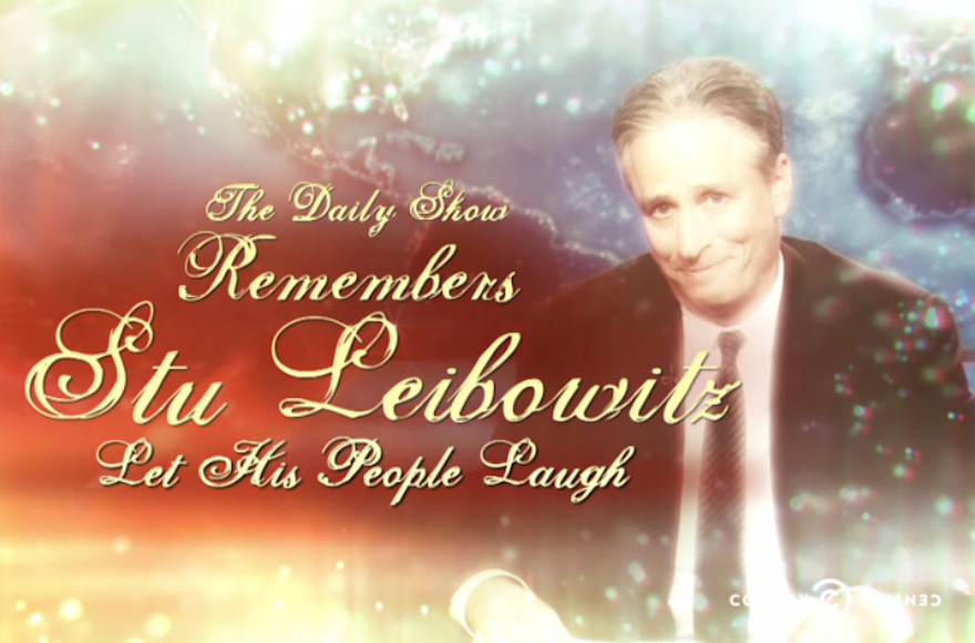 "Jon Stewart reminisced about his Jewish ""Daily Show"" moments in a segment titled ""A Look Back: Let His People Laugh"" on Thursday, July 23, 2015. (Daily Show screenshot)"