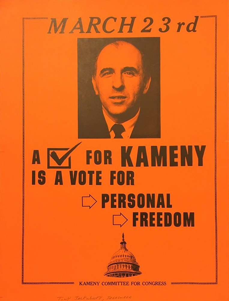 A poster for the failed congressional campaign of gay activist Frank Kameny is part of a new exhibition at the National Museum of American Jewish History. (National Museum of American Jewish History)