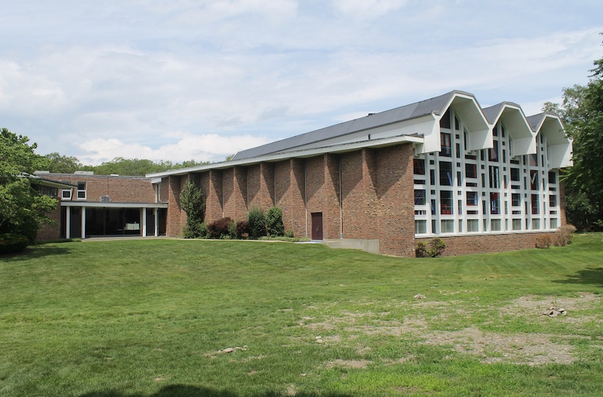 Congregation Mishkan Tefila in Newton, Mass., is considering selling its entire 23-acre property. (Uriel Heilman)