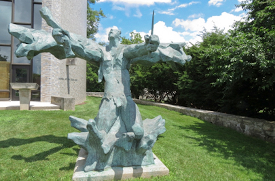David Aronson's monumental sculpture Spirit of Israel stands on the grounds of Brandeis University. (Braithwaite & Katz)