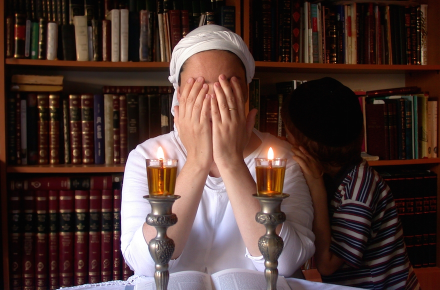 Religious rituals, such as lighting Shabbat candles, are observed at Bat Melech shelters. (Courtesy of Bat Melech)