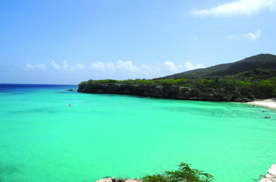 A beach along Curacao's lush Caribbean coastline in 2015. (Melissa Apter/Washington Jewish Week)