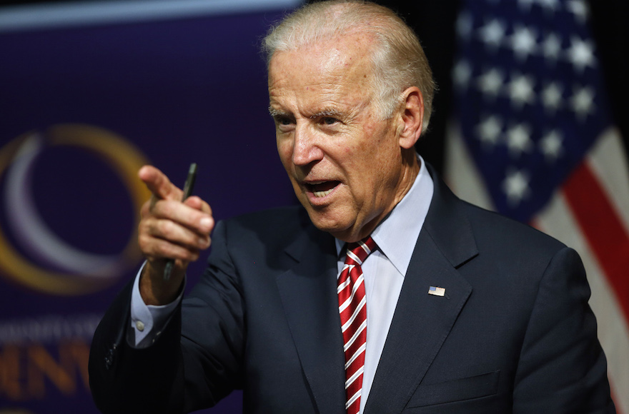 Vice President Joe Biden speaking during a roundtable discussion in Denver on July 21, 2015. (Brennan Linsley/AP)