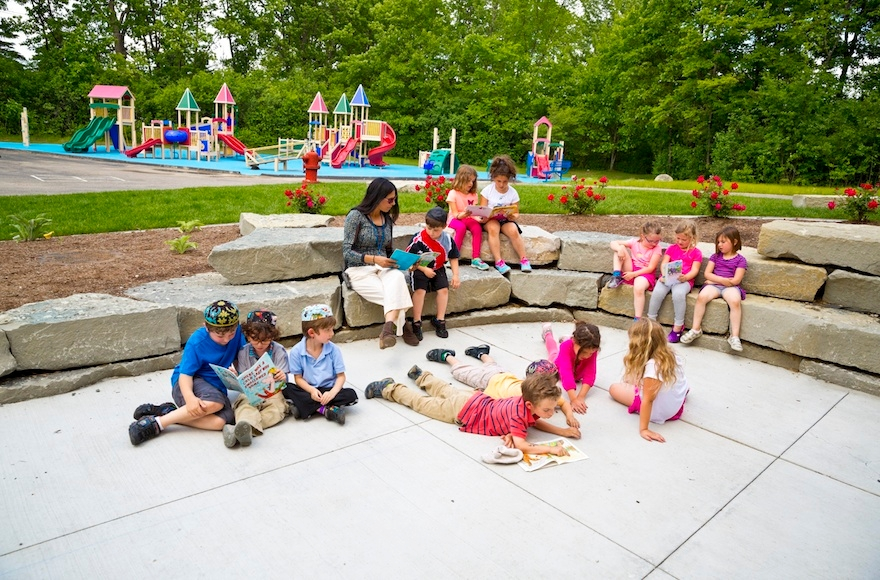 "An ""outside classroom"" at Hillel Day School of Metropolitan Detroit. (Courtesy of Hillel Day School)"