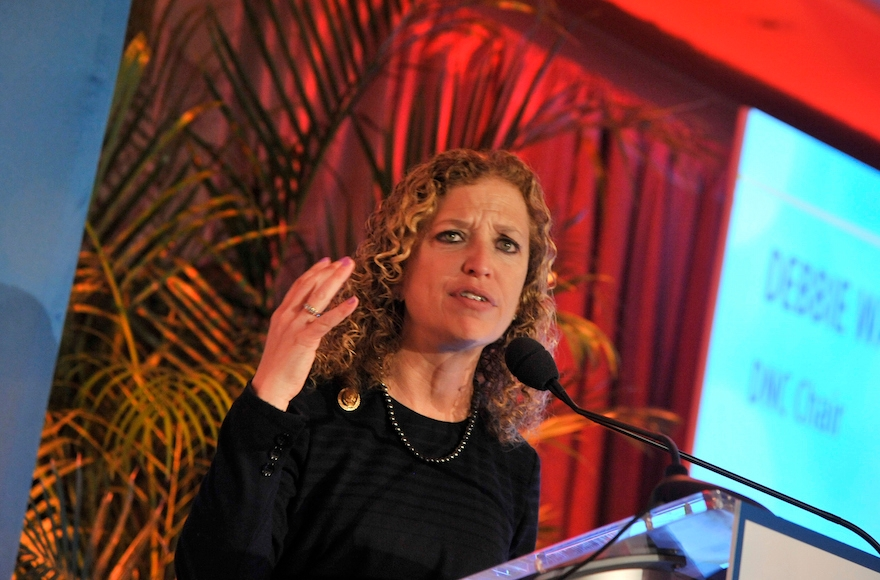 Debbie Wasserman Schultz speaking at a gala on March 3, 2015, in Washington, D.C. (Kris Connor/Getty Images)