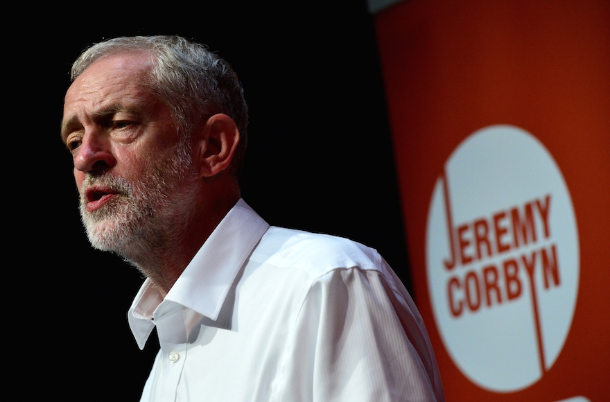 Jeremy Corbyn delivering a speech during his campaign on August 14, 2015, in Edinburgh Scotland. (Mark Runnacles/Getty Images)