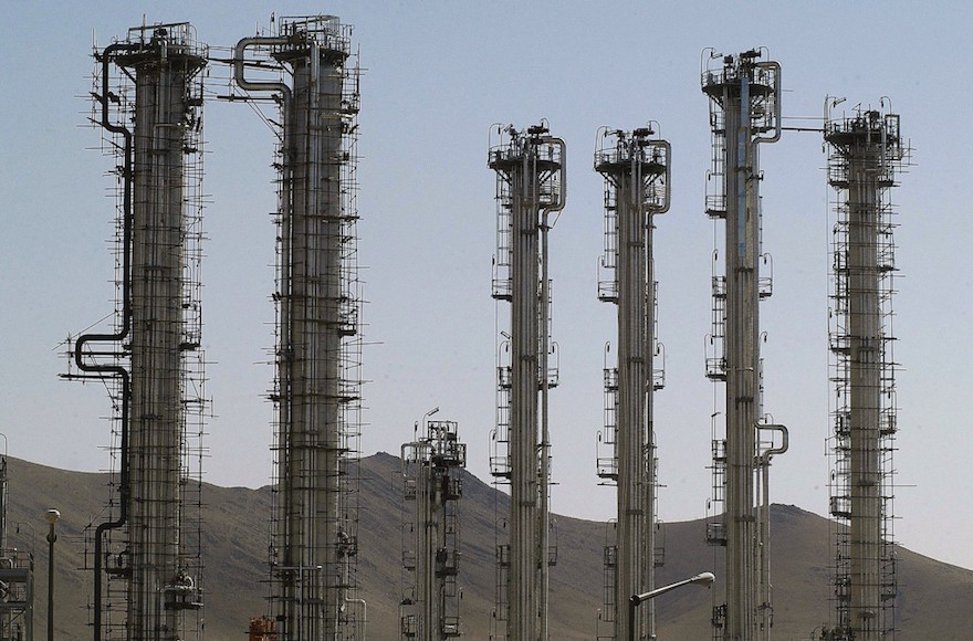A view of Iran's controversial heavy water production facility in Arak, south of the Iranian capital Tehran in 2004. (Majid Saeedi/Getty Images)