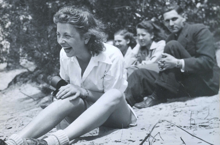 Roosje Glaser, left, with her dance students during an excursion in 1942. (Courtesy: Paul Glaser)
