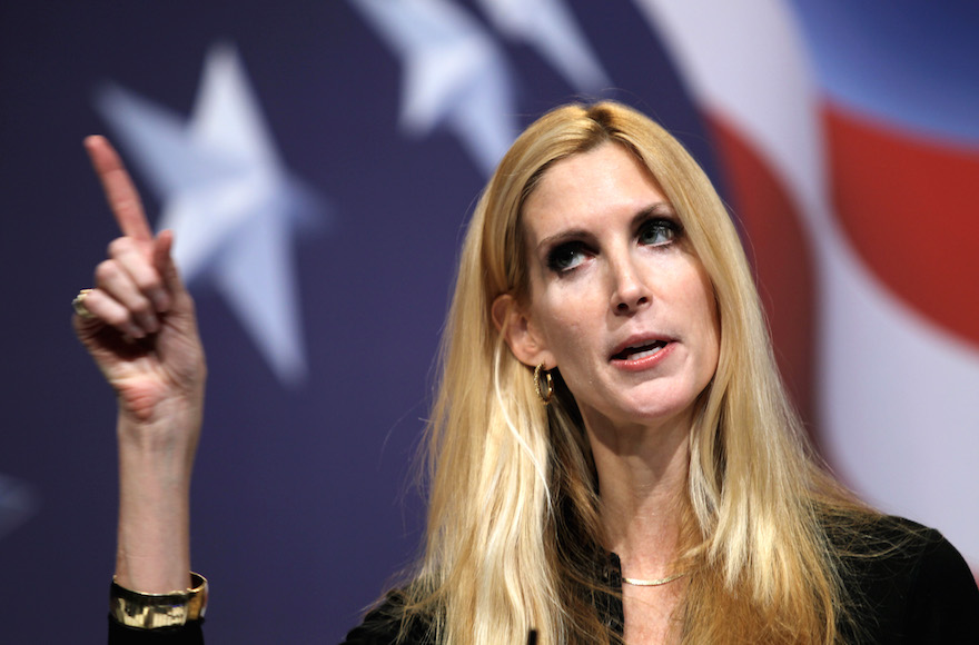 Ann Coulter addressing the Conservative Political Action Conference in Washington, Feb. 20, 2010. (AP Photo/Jose Luis Magana)
