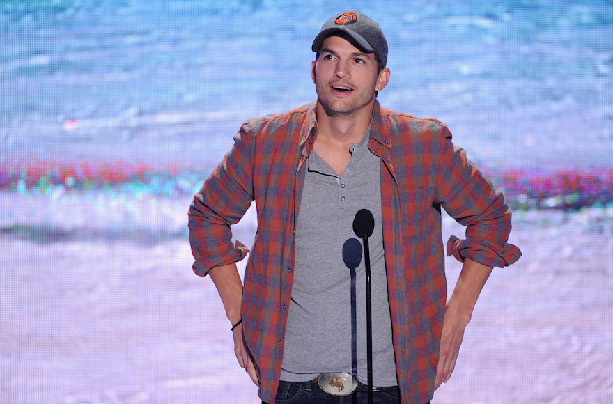Ashton Kutcher onstage during the Teen Choice Awards at the Gibson Amphitheatre in Universal City, California. on Aug. 11, 2013. (Kevin Winter/Getty Images)