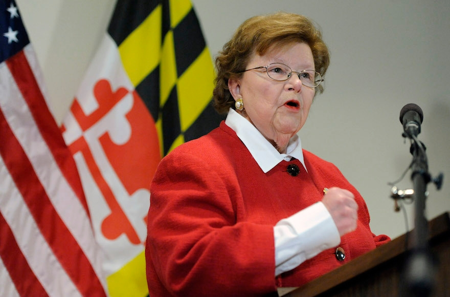 Barbara Mikulski (D-Md.) speaking at a press conference in Baltimore on March 2, 2015. (Steve Ruark/AP Images)