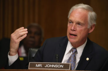Sen. Ron Johnson, R-Wis., participating in a Senate Foreign relations Committee hearing on Capitol Hill, March 10, 2015, in Washington, D.C. (Mark Wilson/Getty Images)
