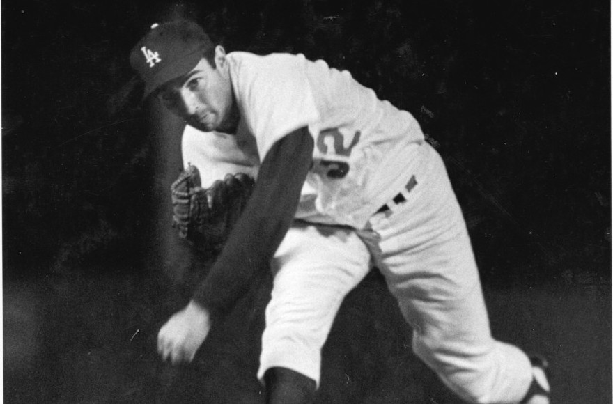 Sandy Koufax, the Brooklyn and Los Angeles Dodger who would not pitch a World Series game on Yom Kippur. (National Baseball Hall of Fame Library)