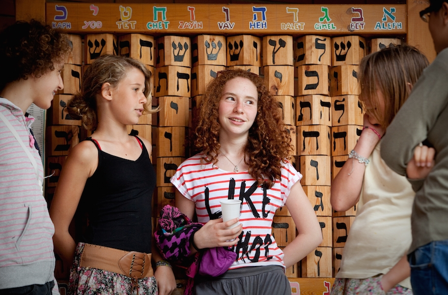 Participants attending activities at Szarvas summer camp in August, 2014. (Courtesy of American Jewish Joint Distribution Committee)