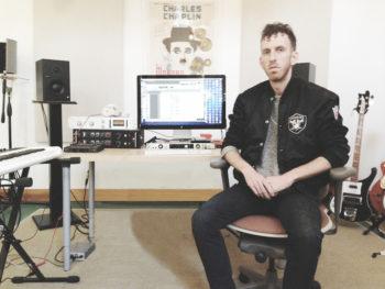 Ariel Rechtshaid at work in the studio. (Jeremiah Raisen)
