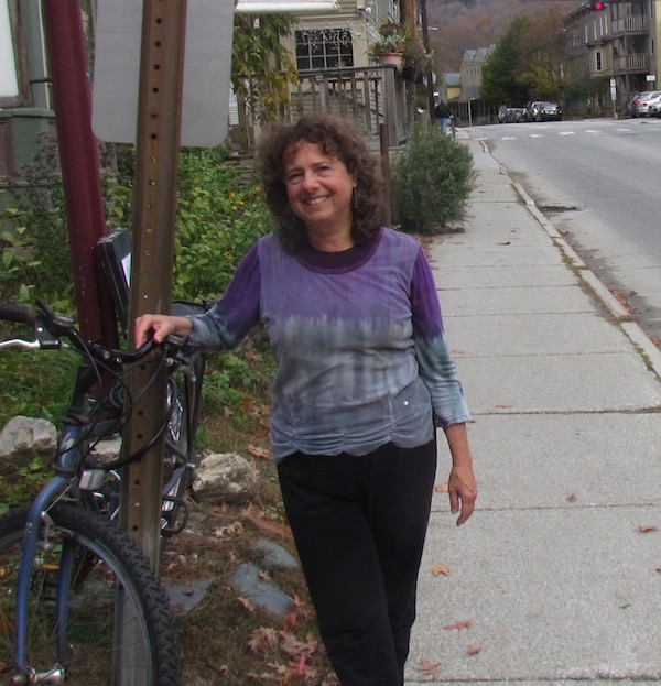 Tobie Weisman in Montpelier, Vermont, where she is one of four women rabbis attached to the town's synagogue, Oct. 14, 2015. (Ron Kampeas)