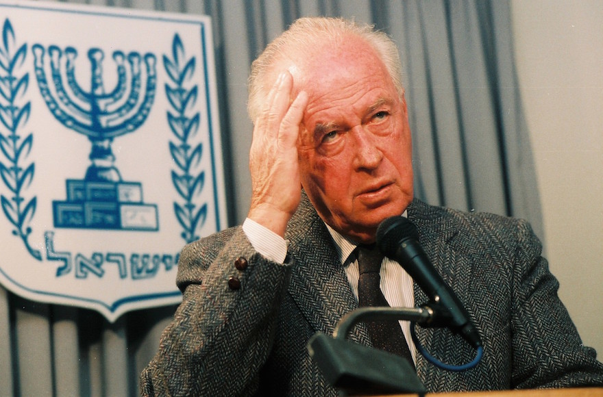 Israeli Prime Minister Yitzhak Rabin was assassinated at a rally in Tel Aviv on Nov. 4, 1995. (Flash90)