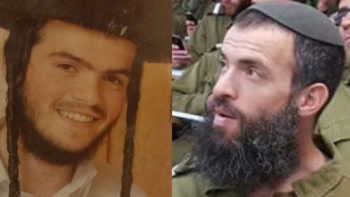 Aharon Bennett, 21, left, and Nehemia Lavi, 41, right, were killed in a stabbing attack in Jerusalem on October 3, 2015. (Courtesy)