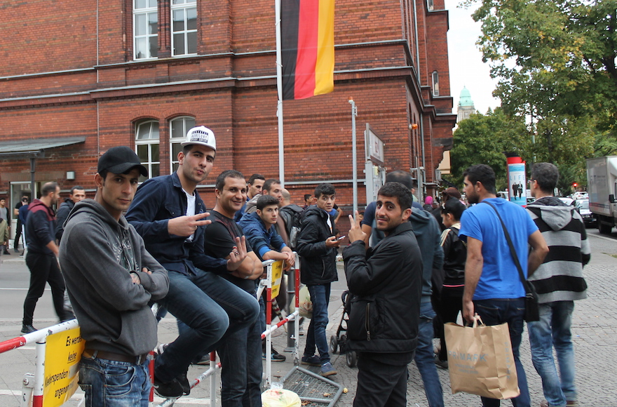 Germany is struggling to process and accommodate the 10,000 refugees streaming into the country every day. (Uriel Heilman)