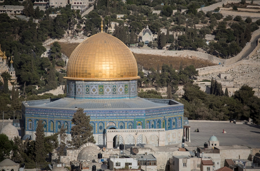 The Temple Mount compound in Jerusalem.(Hadas Parush/Flash90)